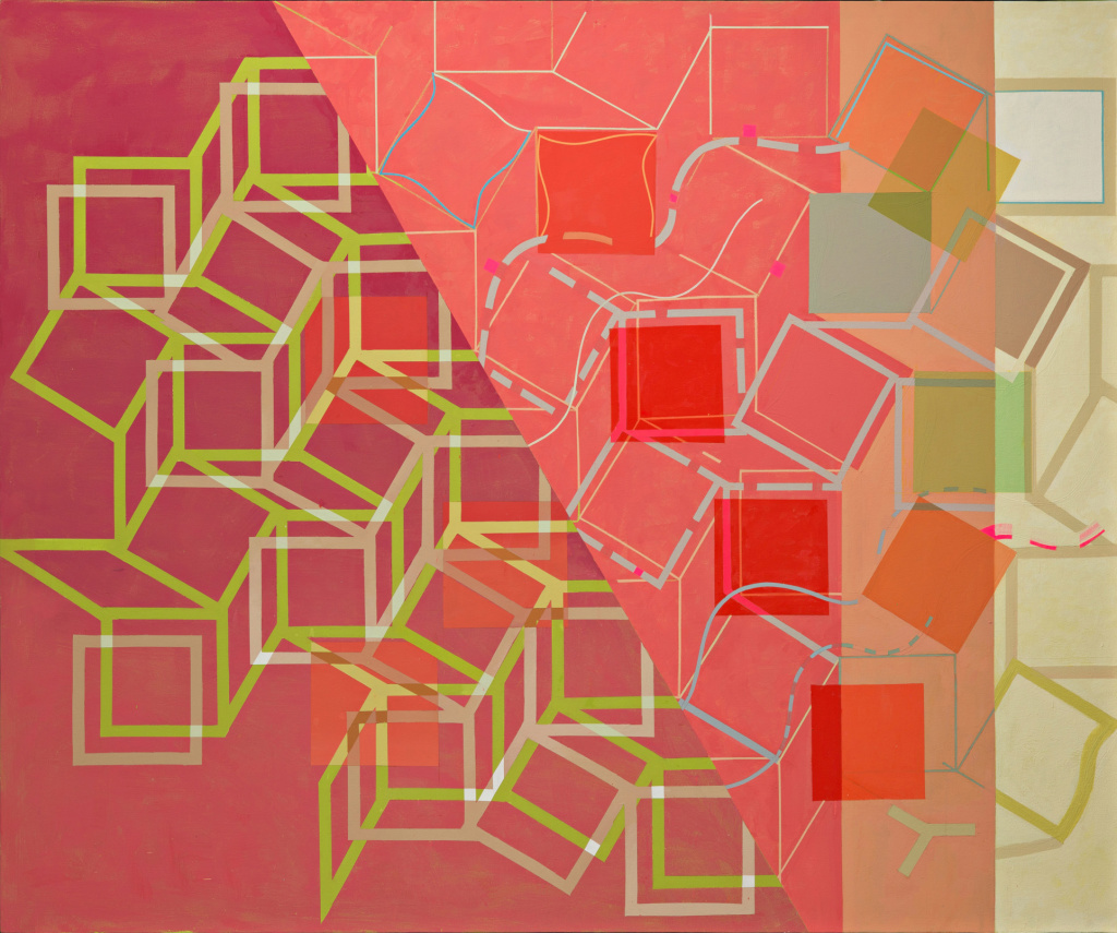 JeanetteFintz_Red Tumble & Flow_2015_a_c_60x72in